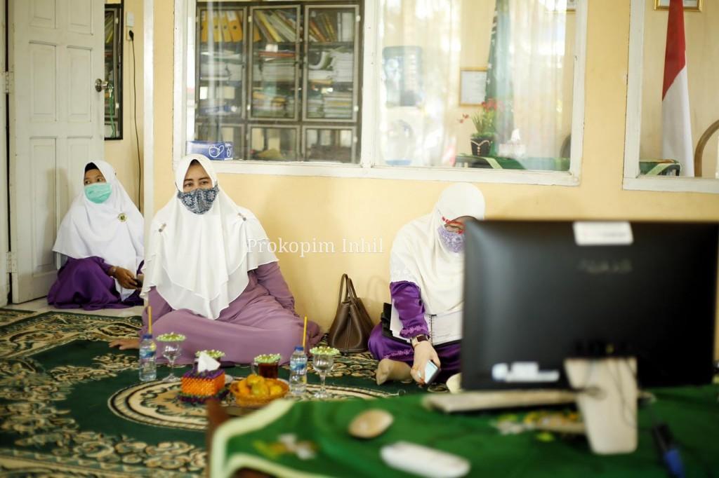 Ketua PCMNU Inhil Hj.Zulaikhah Wardan Ikuti Pra Mukernas Hidmat secara Webiner
