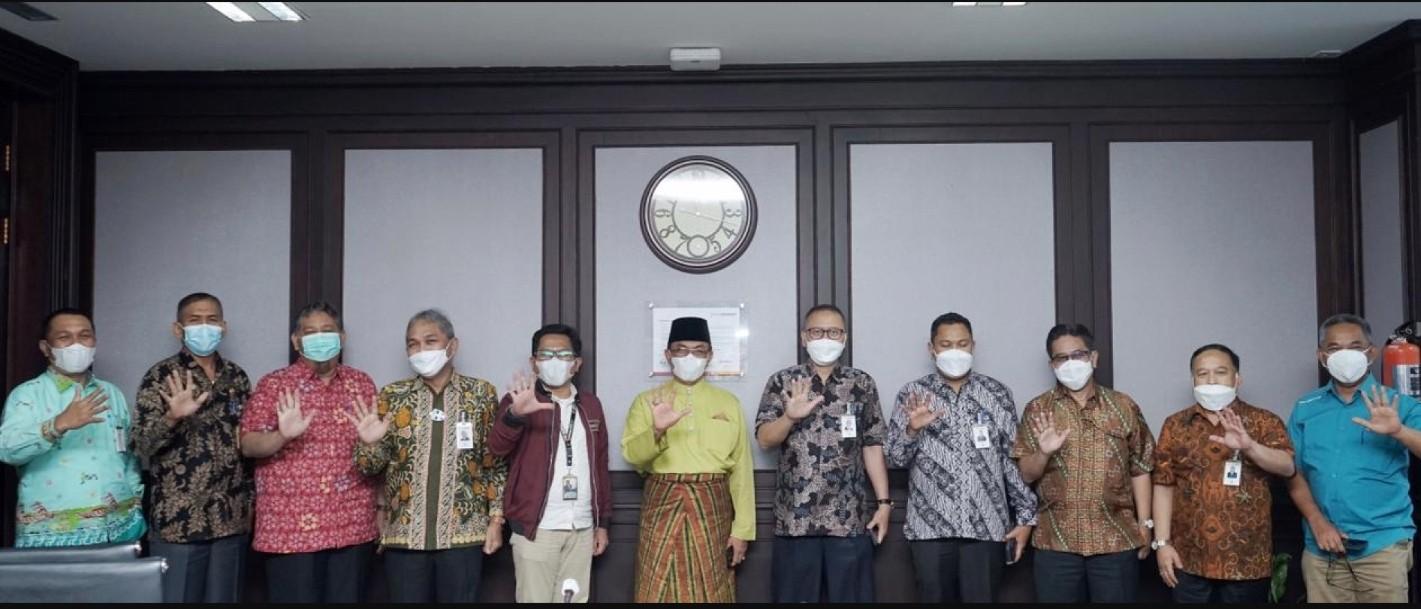 Pemkab Inhil Kunjungi PT. Bank Riau Kepri di Pekanbaru