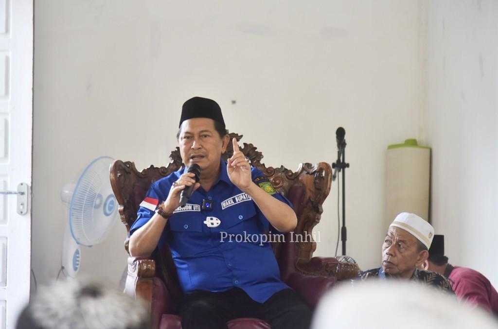 Wabup H.Syamsuddin Uti Hadiri Maulid Nabi Muhammad SAW 1443 H di Surau Bidayatul Hidayah Desa Suhada Enok